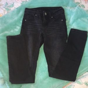 ⭐️Justice⭐️ black straight leg jeans.